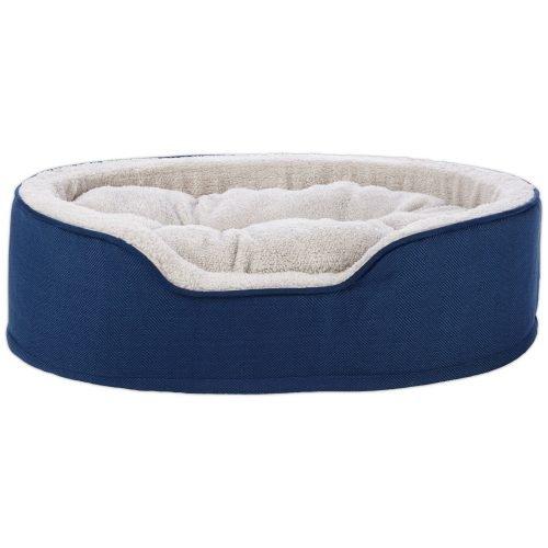 ADOG PLUSH ROUND BED MED BLUE
