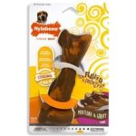 This rubber chew toy is made to handle strong chewers. Perfect for deterring the destructive chewing of your home. Keep your dog occupied with this 0 calorie meatloaf and gravy flavored rubber chew toy.