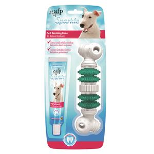 SPARKLE DENTAL DOG BRUSH BONE