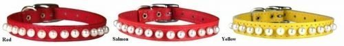 "3/8"" COLLAR PP PEARL 5-7"" RED"