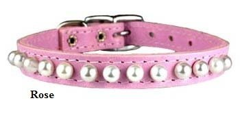 "3/8"" COLLAR PP PEARL 7-9"" ROSE"